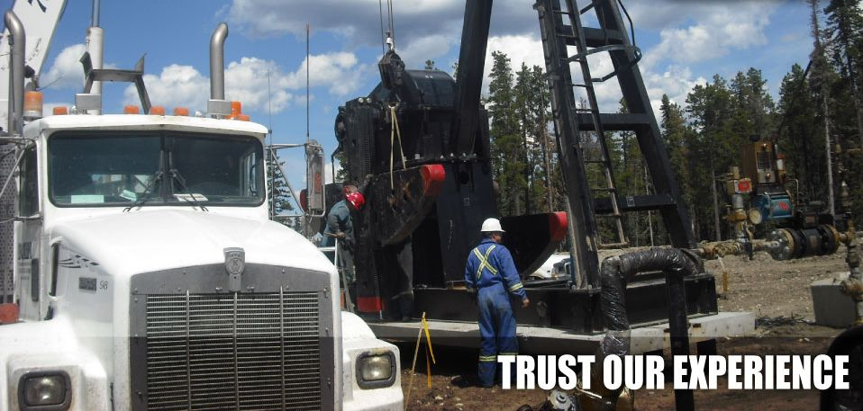 Trust Our Experience | Assembling oil rig